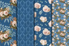 Shabby chic roses seamless patterns Product Image 4