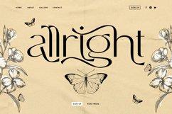 Allright - Fashionable Font Product Image 1