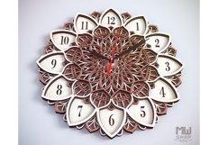 C08 - Laser Cut Wall Clock DXF, Mandala Clock, Wooden Clock Product Image 6