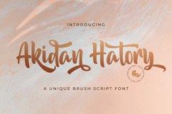 Akidan Hatory - Bold Script Font Product Image 1