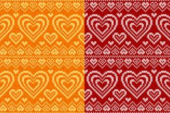 10 knitted hearts seamless patterns Product Image 2
