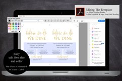 Gold Before we do we dine invitation, Printable rehearsal Product Image 6