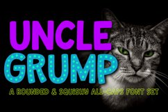 Uncle Grump - a rounded all-caps font! Product Image 1