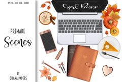 FALL CLIPART - AUTUMN GIRL BOSS, Planner Graphics Product Image 3