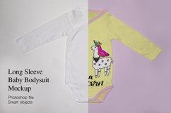 Long Sleeve baby bodysuit, onesie Mockup. Product Image 1