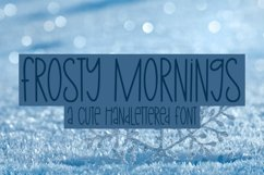 Web Font Frosty Mornings - A Cute Hand-Lettered Font Product Image 4