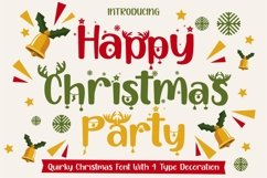 Happy Christmas Party - Xmas Font Product Image 1