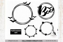 Halloween wreath SVG Set, Pumpkin Thanksgiving SVG Product Image 2