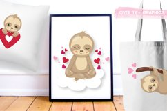 Valentine sloths graphics and illustrations Product Image 5