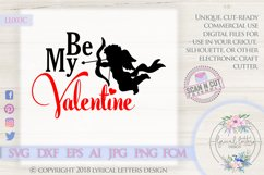 Be My Valentine Cupid Valentine's Day SVG DXF LL003C Product Image 1