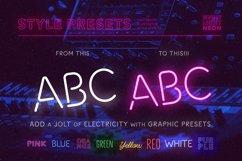 Night Light Neon Font - square Product Image 5