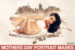 20 Watercolor portrait paint masks, photo frame Mothers Day Product Image 1