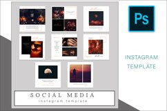 Halloween Instagram Photoshop Template Post Product Image 2