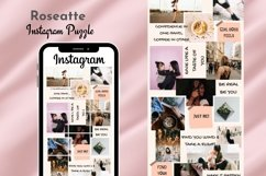 Instagram Puzzle Template Canva- Roseatte Product Image 1