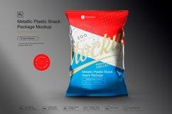 Metallic Plastic Snack Package Mockup Product Image 1