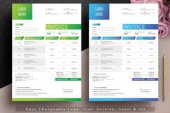 Modern Invoice Template Google Sheets Excel Numbers Format Product Image 3