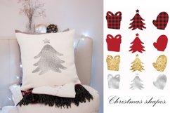 Buffalo plaid Christmas, shapes, sublimations Product Image 8