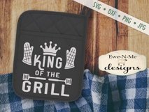Grilling BBQ Themed Pot Holder Bundle - Fathers Day SVG Product Image 2
