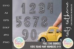Road Map Kids Birthday Number Bundle SVG Cut File Product Image 1