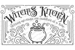 Witch's Witches Kitchen - Cauldron - Halloween SVG DXF EPS Product Image 4