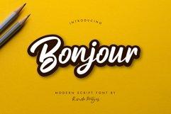Bonjour Modern Script Font Product Image 1