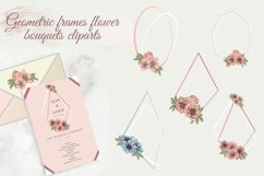Pastel pink and blue flowers clipart, summer floral png Product Image 4