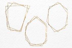 Gold polygonal frames Golden foil frames card design Product Image 2