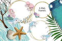 MERMAIDS Sea Tropical Color Vector Illustration Set Product Image 2