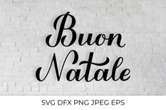 Buon Natale calligraphy lettering Merry Christmas in Italian Product Image 1