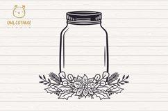 Christmas Mason Jar SVG File, Christmas svg file Product Image 3