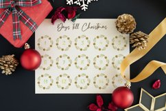 Watercolor wreaths with numbers. 31 days till Christmas Product Image 3