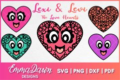 LEXI & LEVI THE LOVE HEARTS SVG 5 MANDALA ZENTANGLE DESIGNS Product Image 1