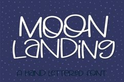 Web Font Big Moon Energy - A Hand Lettered Font Product Image 2