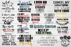 16 Quirky Quotes bundle set dxf svg png Product Image 1