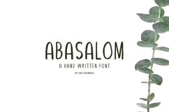 Abasalom A Handwritten Font Product Image 1