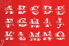 Christmas Monogram Alphabet - Christmas Split Letters Product Image 2