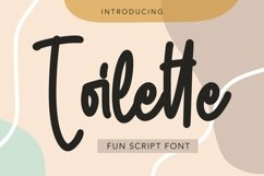Web Font Toilette - Fun Script Font Product Image 1