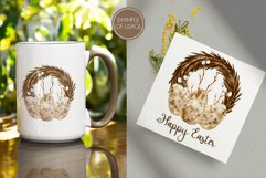 Watercolor Easter Wreath. Spring Sublimation PNG Design Product Image 3