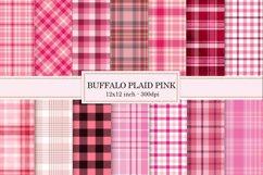 Digital paper Pink, buffalo plaid Pink, Background Product Image 1