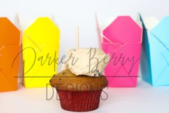 Cookie dough Cupcake Topper Space between Takeout Boxes Product Image 1