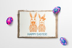 Easter Bunny SVG, Easter Decorations, Easter Clipart SVG Product Image 4