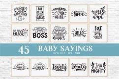 Baby sayings svg bundle - baby onesie svg Product Image 2