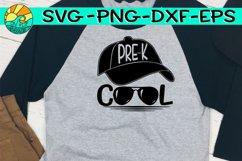 Pre K - Cool - Baseball Hat - Glasses - SVG PNG EPS DXF Product Image 1