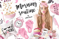 Morning clipart, fashion illustrations, morning routine plan Product Image 1