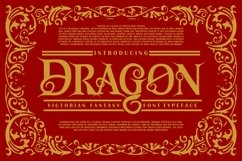 Dragon | Victorian Font Typeface Product Image 1