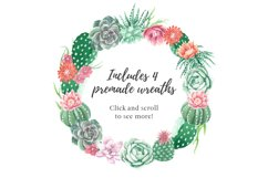 Watercolor Cactus and Succulents Collection Product Image 5