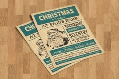 Retro Christmas Party Flyer Template Product Image 1
