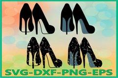 High heels Svg, Womens heels SVG Product Image 1