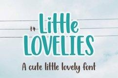 Web Font Little Lovelies - a fun craft font Product Image 1