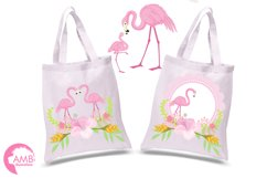 Flamingos clipart mega pack, graphics, illustrations AMB-1047 Product Image 2